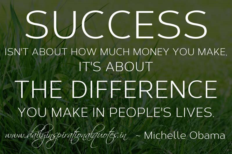 Success isn't about money quote