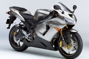 Silver sports bike