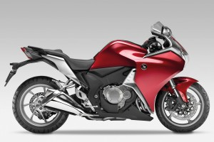 Red Honda VFR1200F Bike