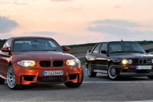2011 BMW 1 Series M Vs Black Car And Headlights On