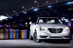 2011 Chrysler 200 Convertible Near Bridge In Night