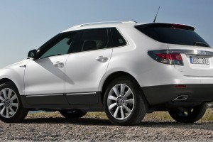 2011 Saab 9 4X Side Pose In White Near River
