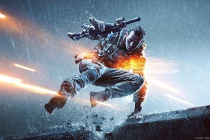 A Soldier Jumpin In Game Battlefield 4