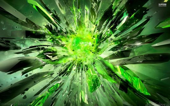 Green Crystal Breaking