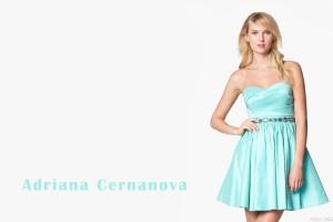 Adriana Cernanova Looking Beautiful In Short Sky Blue Dress