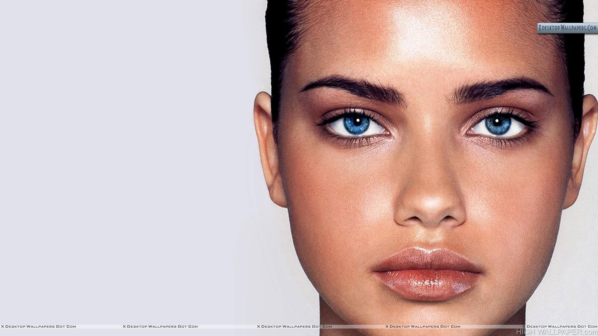 Adriana Lima Blue Eyes Face Closeup