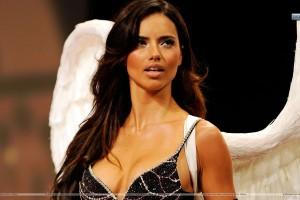 Adriana Lima Wet Body in Black Bikinis Photoshoot