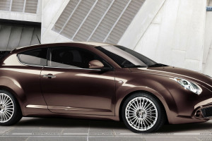 Alfa Romeo Mito Side Pose In Brown Color