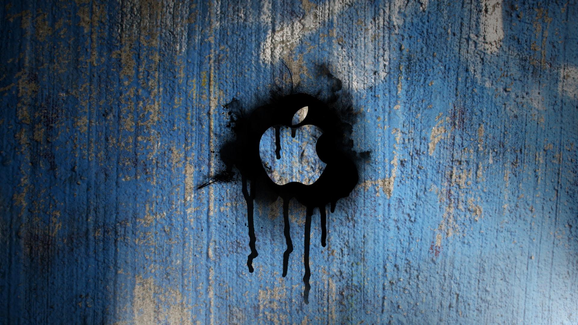 Apple-Spray-Painted-Wallpaper