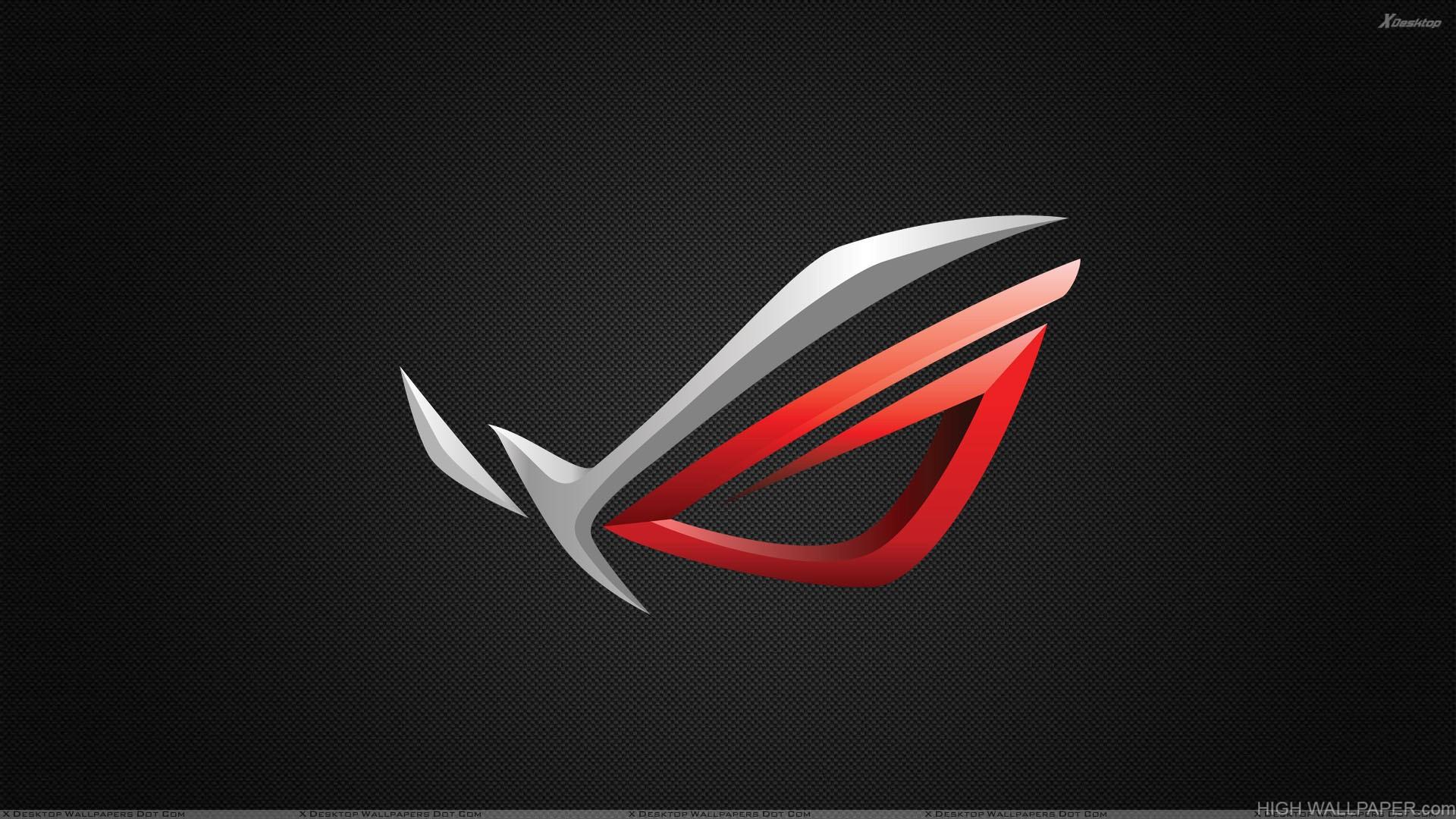 Asus ROG Logo On Black Background HD Wallpaper