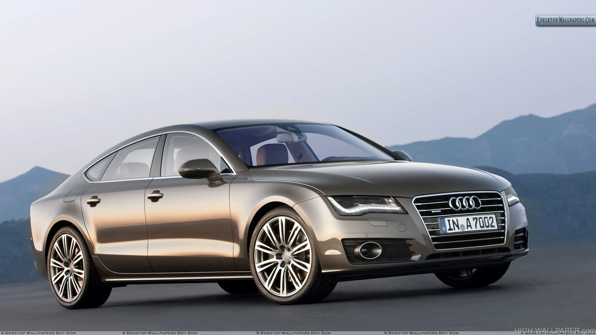 Audi A7 Sportback Brown At Mountain Side