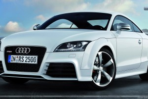Audi TT RS White Color Front Pose