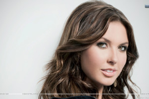 Audrina Patridge Smiling Side Face Closeup