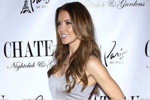 Audrina Patridge Smiling Side Pose in Las Vegas