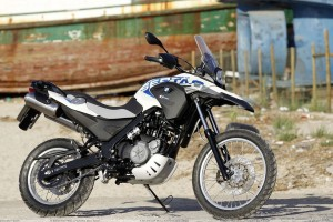 BMW G650 GS Sertao Side Pose Standing On Road