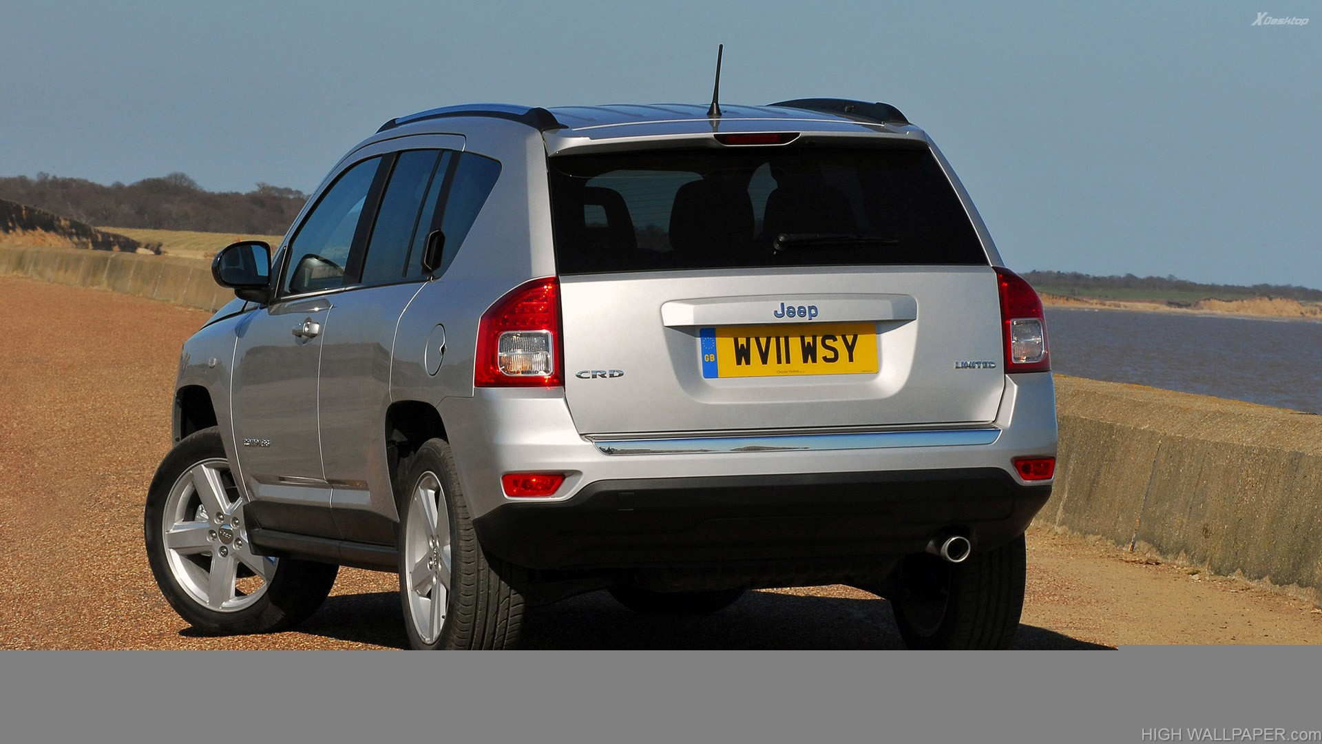 Back Pose 2011 Jeep Compass UK In Silver