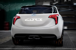 Back Pose of Hyundai Curb