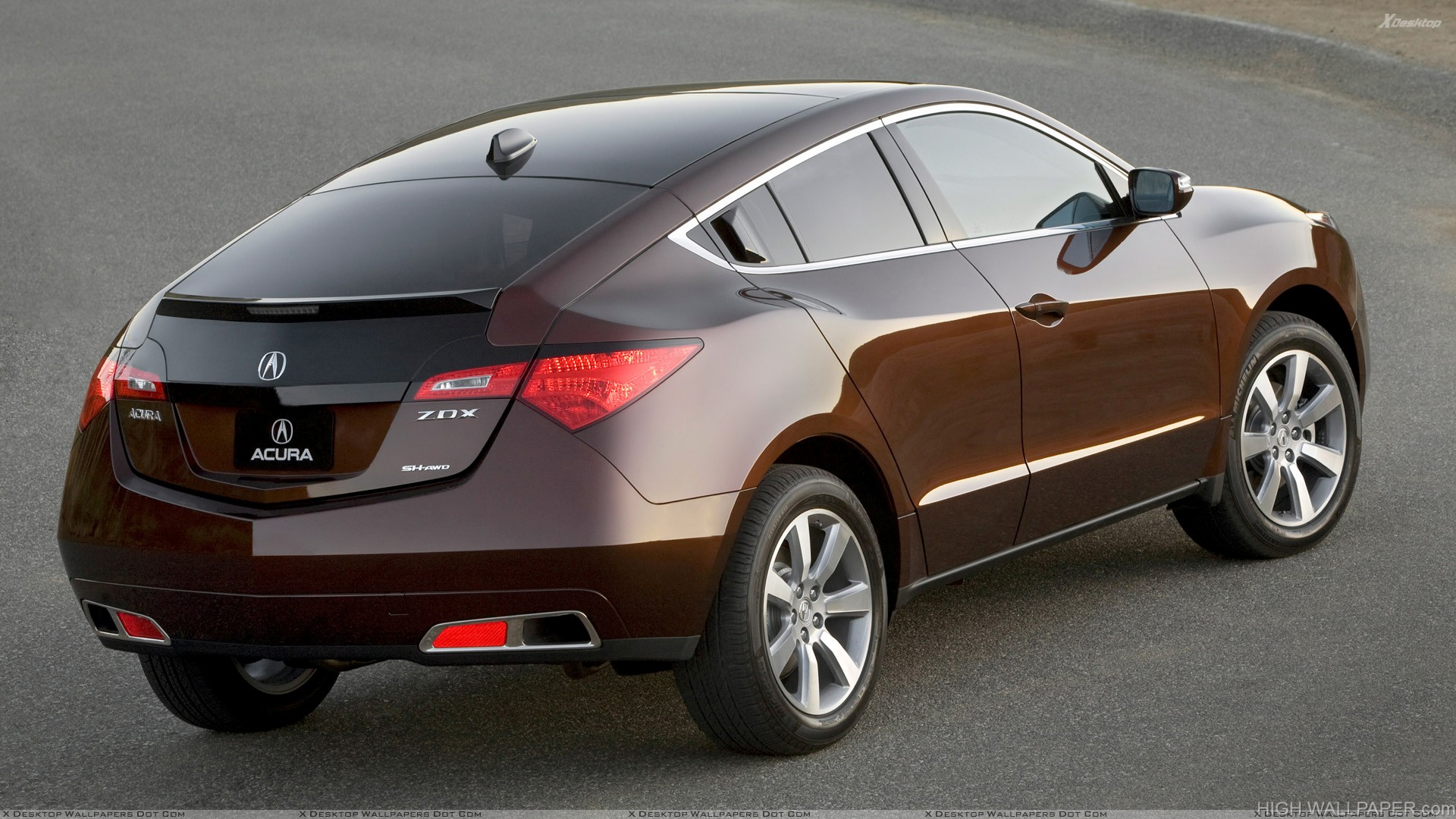 Back Side Pose Of 2010 Acura ZDX In Brown