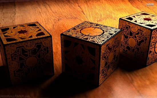 Wooden Mystery cubes