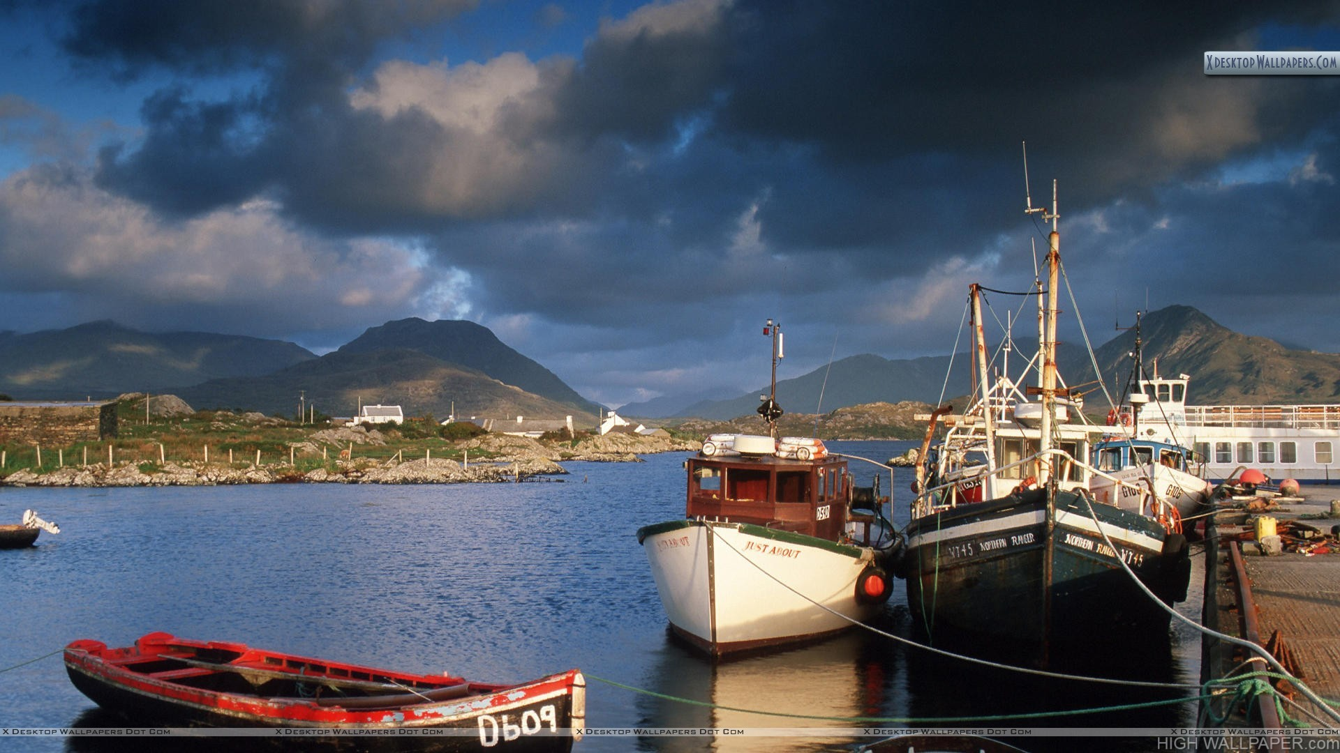 Ballynakill Harbor Connemara County Galway Ireland