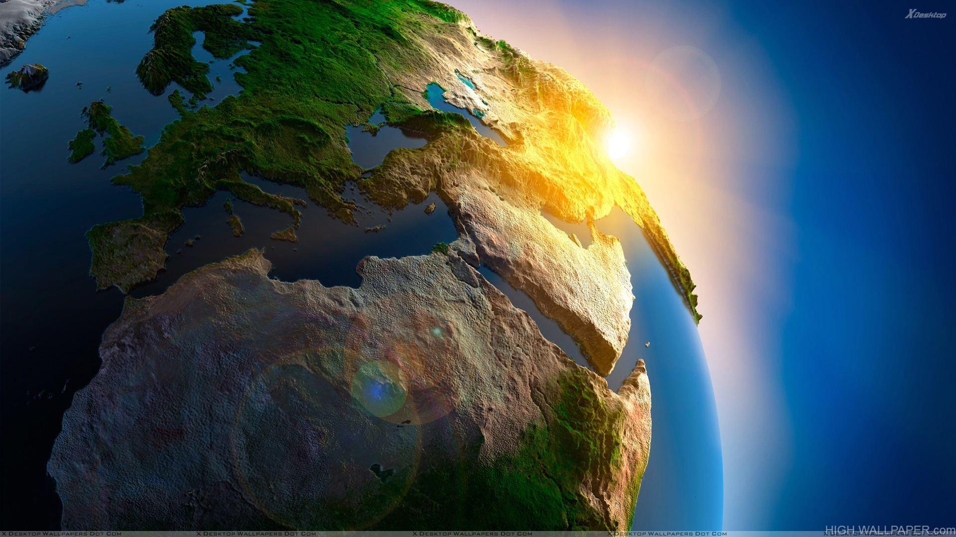 Beautiful Green Earth Closeup