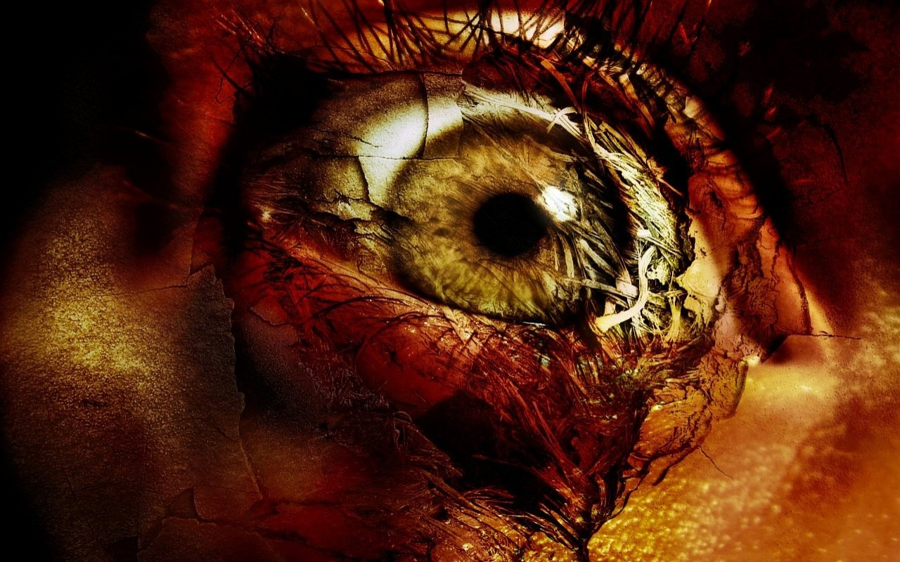Horror Eye With Blood