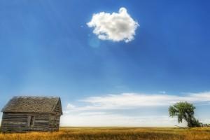 Blue-Sky-And-Hut-Wallpaper