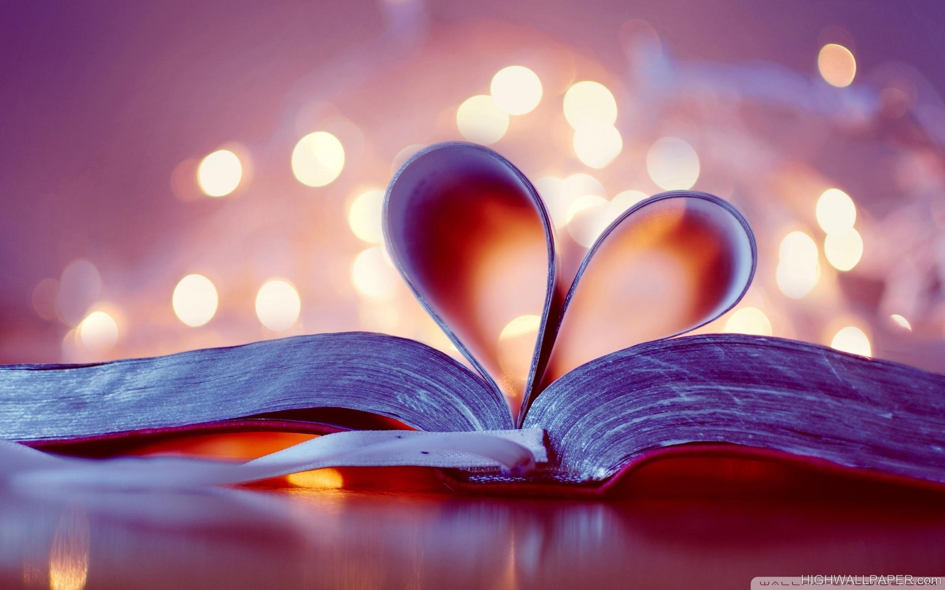 Book Page Heart Shape