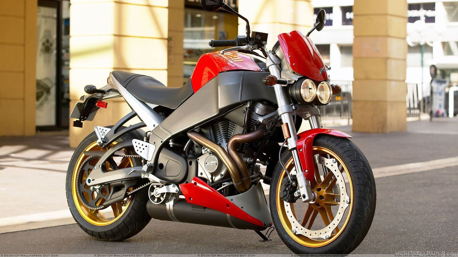 Buell Lightning XB12Ss In Red Side Pose