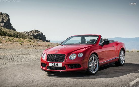 Red Bentley on hill