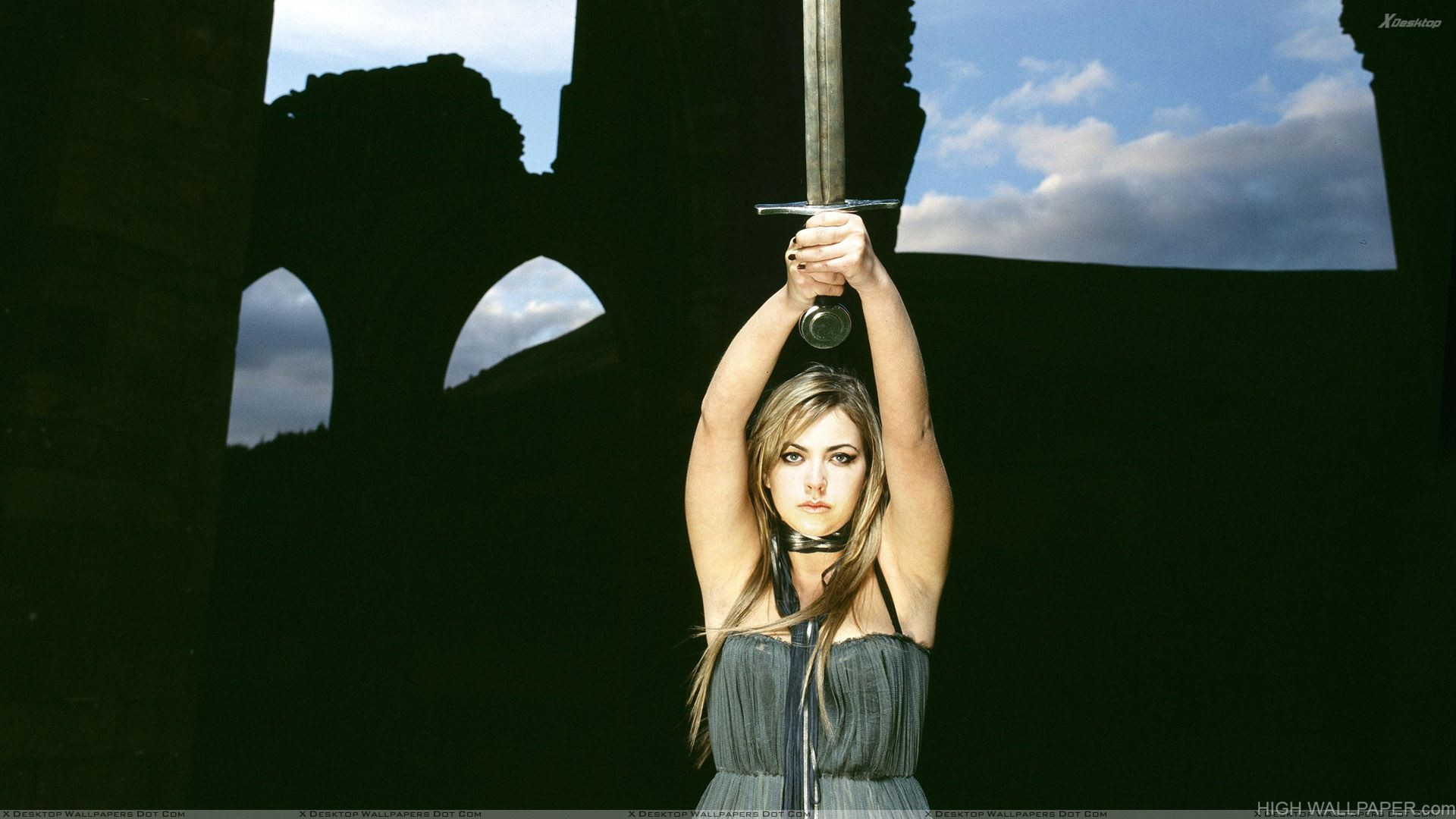 Charlotte Church Clutch The Sword Up Side Photoshoot