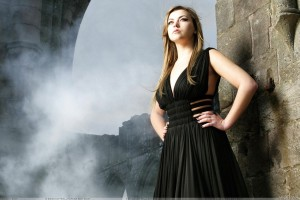 Charlotte Church In Black Dress Modeling Pose