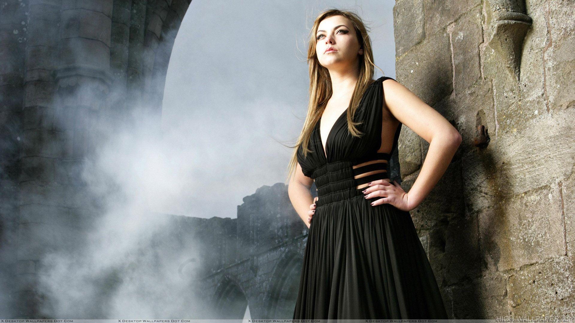 Charlotte Church In Black Dress Modeling Pose