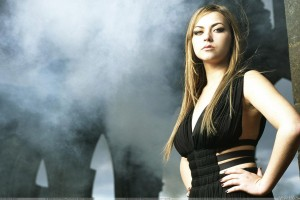 Charlotte Church Modeling Pose In Black Dress Side Pose Photoshoot