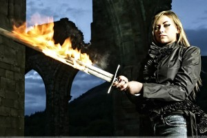 Charlotte Church Sword In Hand Photoshoot