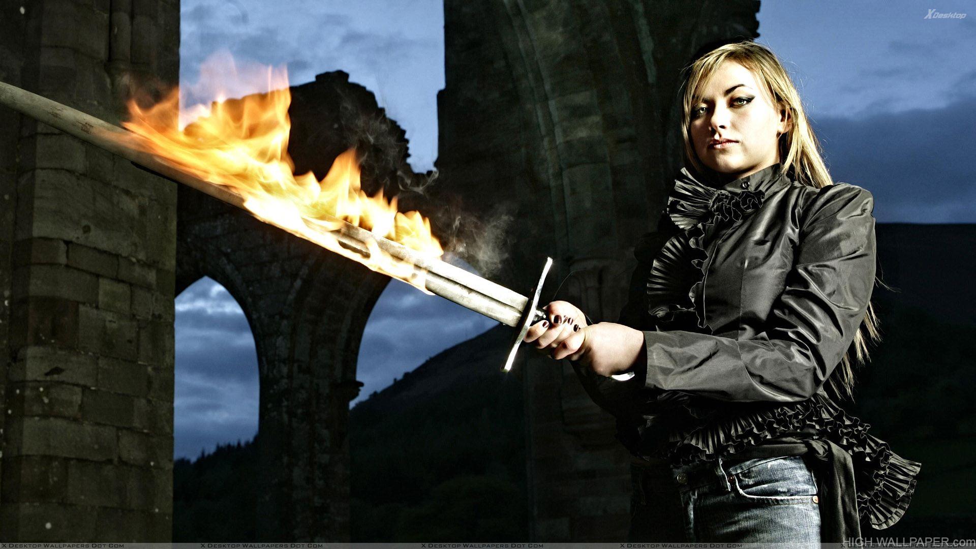 Charlotte Church Sword In Hand Photoshoot