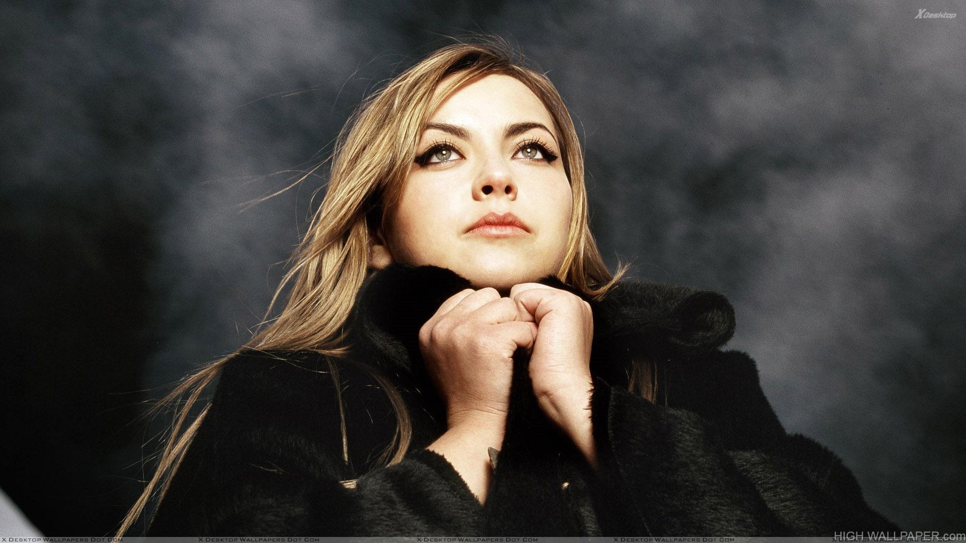 Charlotte Church Thinking In Black Dress Photoshoot
