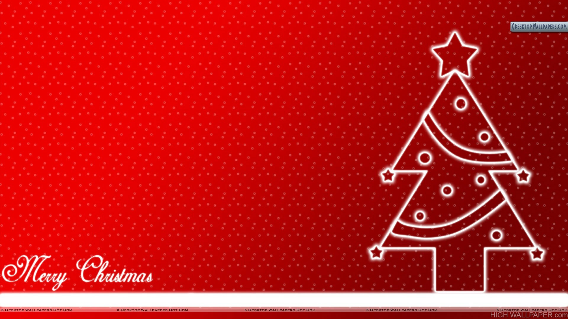 Christmas Tree With Red Background