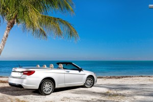 Chrysler 200 Convertible 2011 Side Pose Near Beach