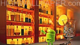 Android in bar with glass-275×155