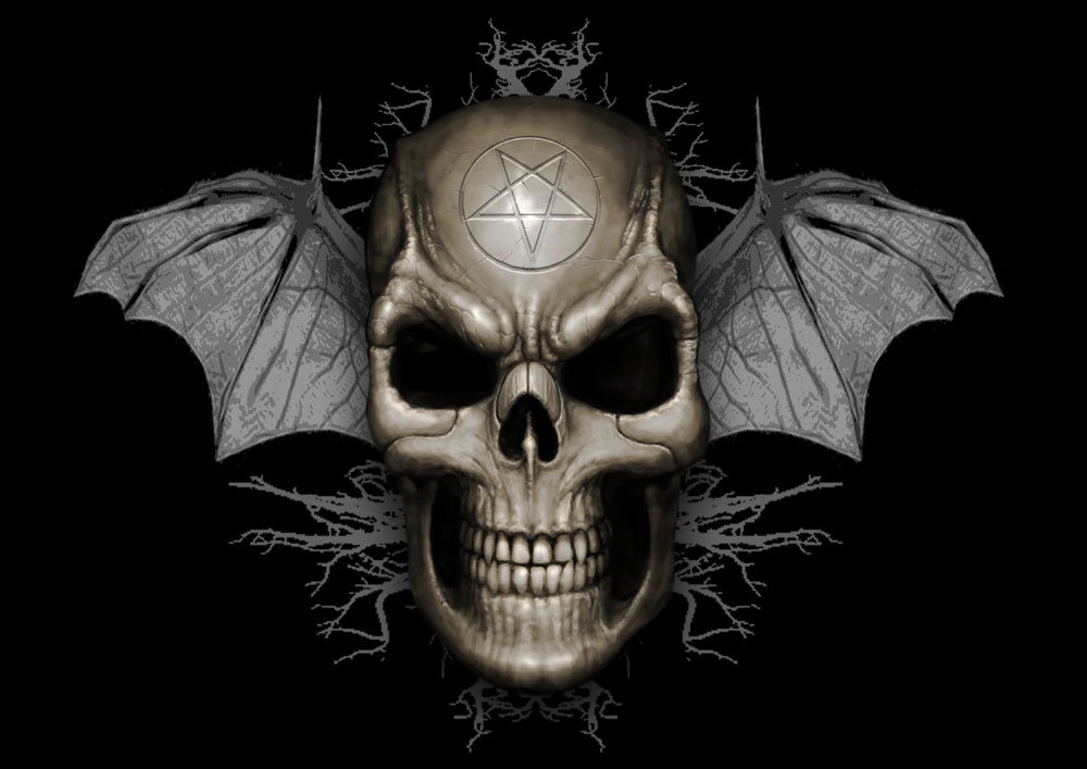 Cool Skull With Wings