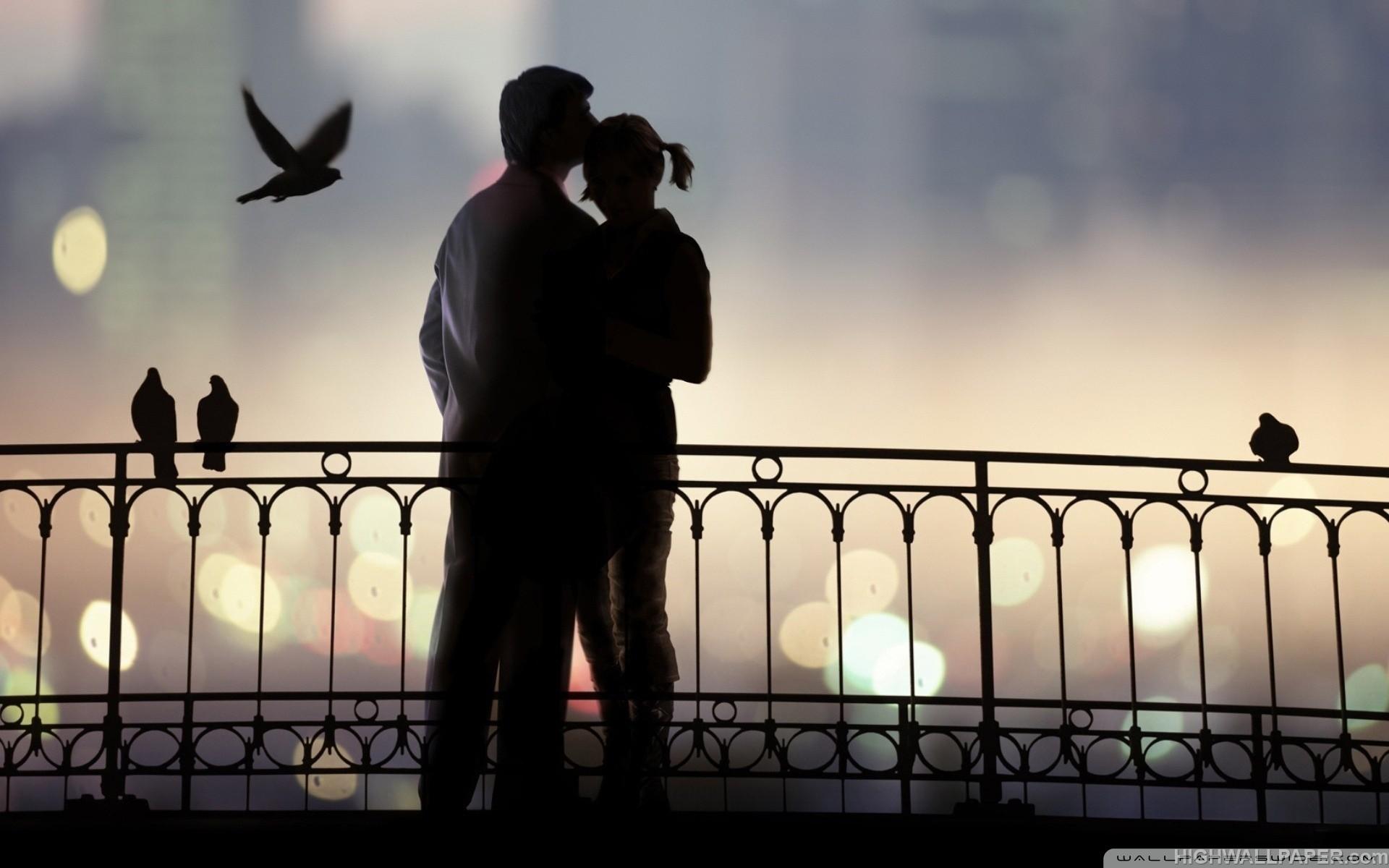 Couple on Bridge Dark