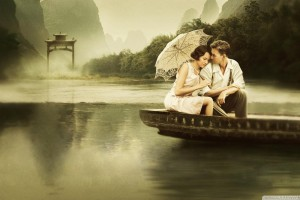 Couple in Boat in River