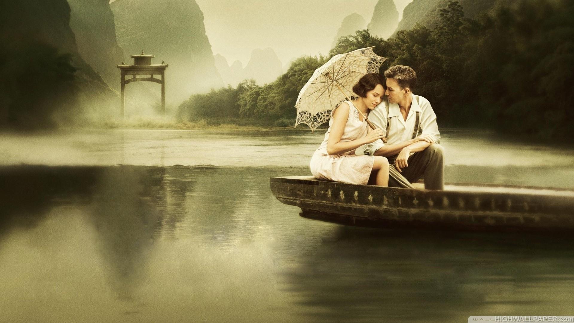 Couple in Boat in River