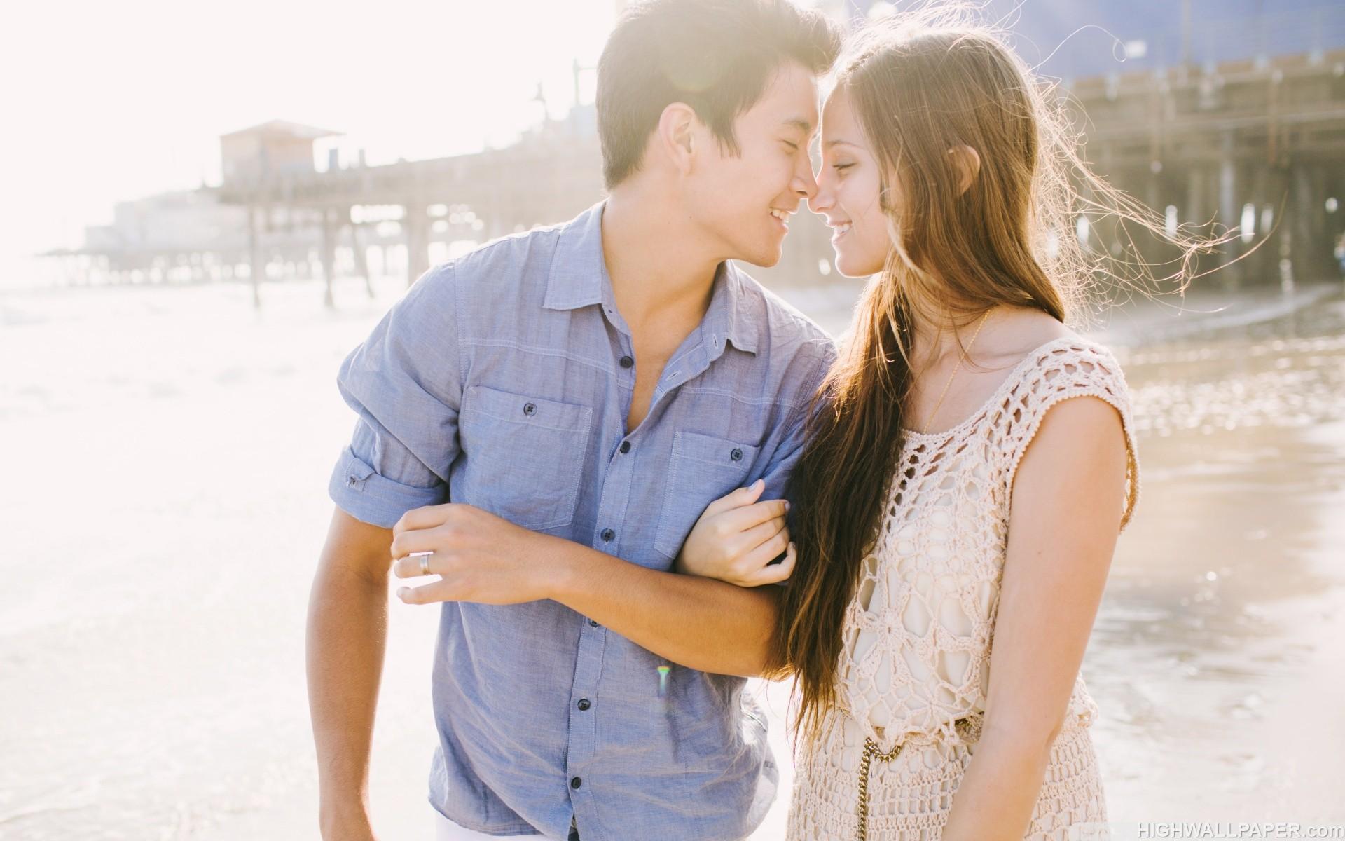 Cute Couple on Beach