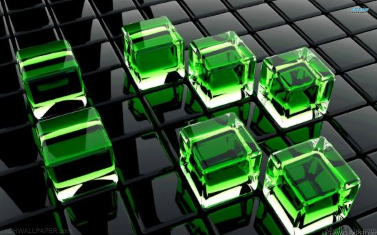 Green Glass Cube