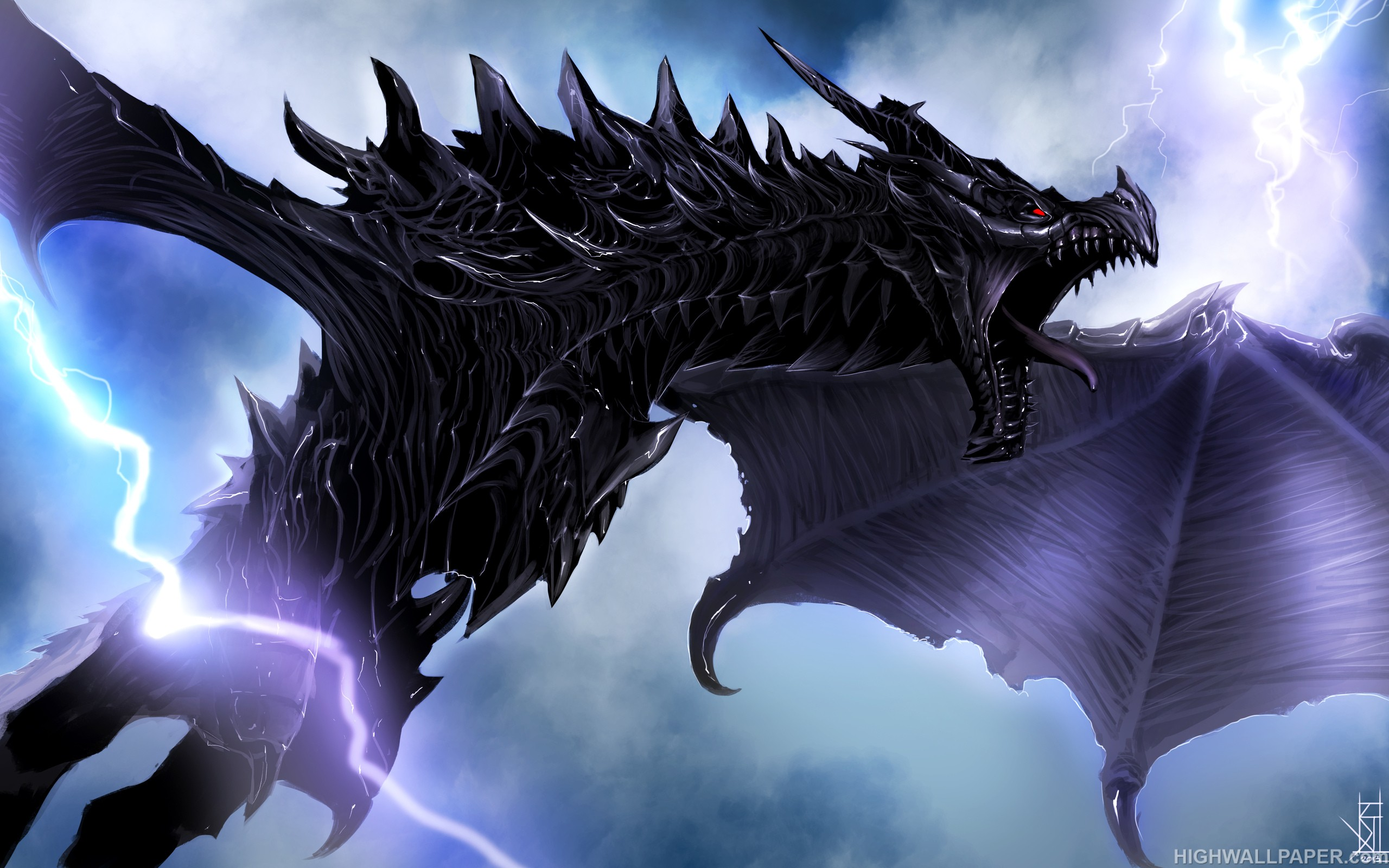 Dragon and Lightning