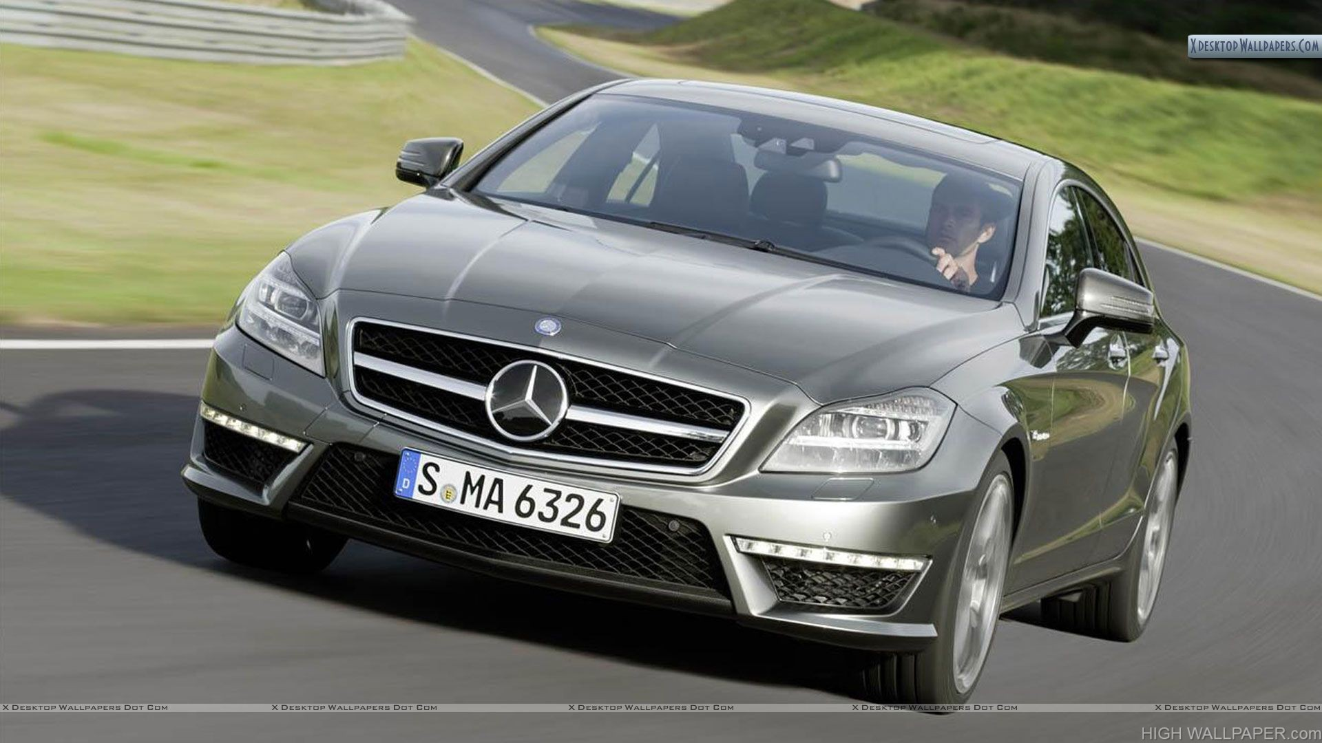 Driving 2012 Mercedes Benz CLS63 AMG on Highway
