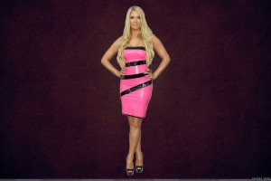 Erika Jayne Modeling Pose In Pink Dress