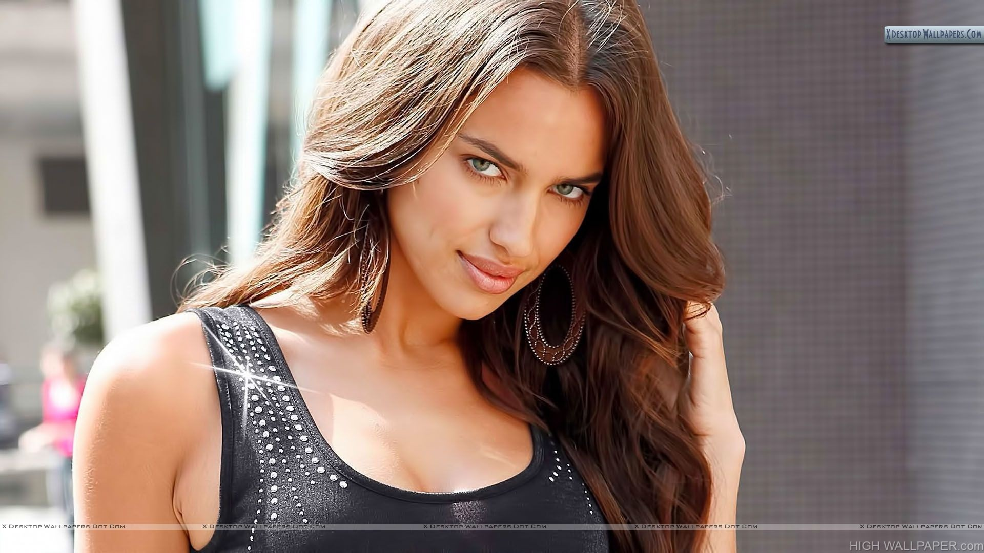erotic smile of irina shayk hd wallpaper